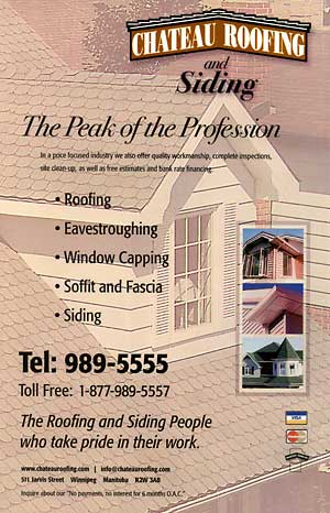 Chateau Roofing & Renovation Ad